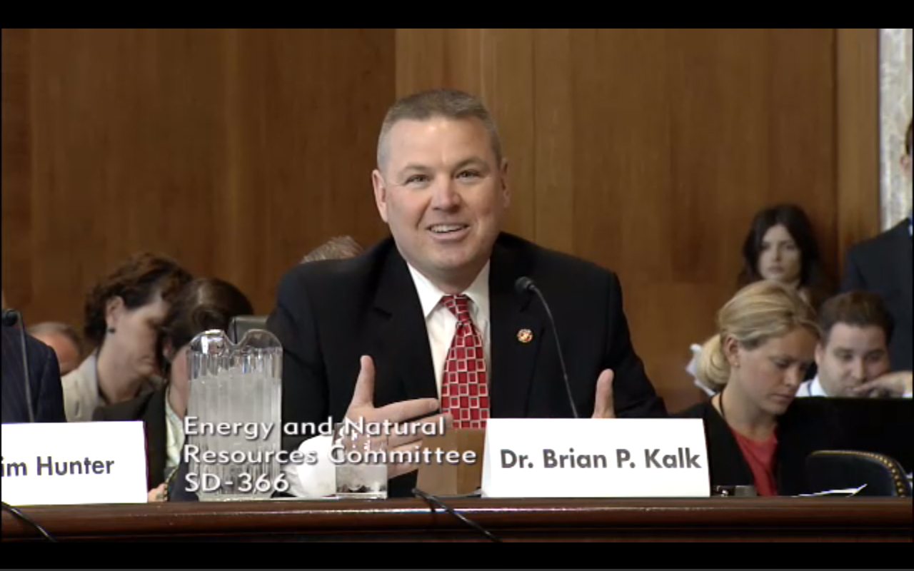 Commissioner Kalk Testifies in Front of Senate Energy & Natural Resources Committtee